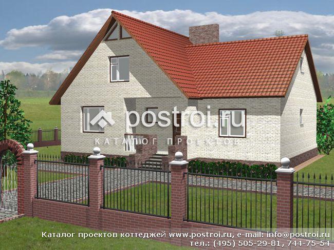 Мансардный двухэтажный дом D-144-1P